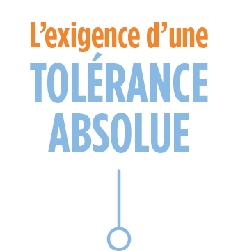 l'exigence d'une tolérance absolu